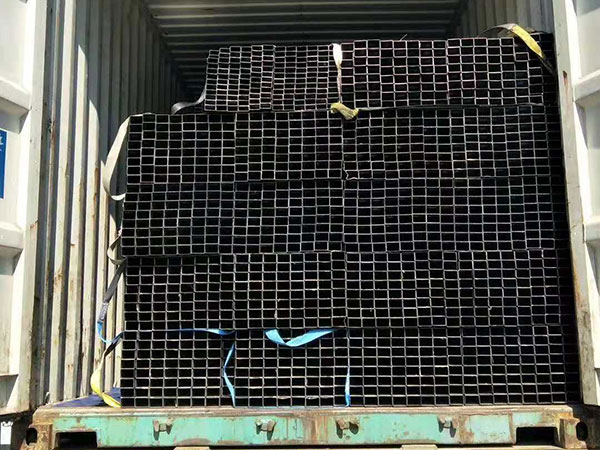 Black Rectangle Steel Pipe